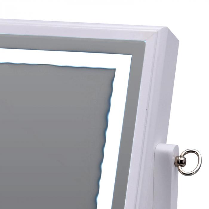 Cutie bijuterii din MDFcu oglinda si 40 LED, culoare alba, dimensiuni 32x23x6.5 cm 4