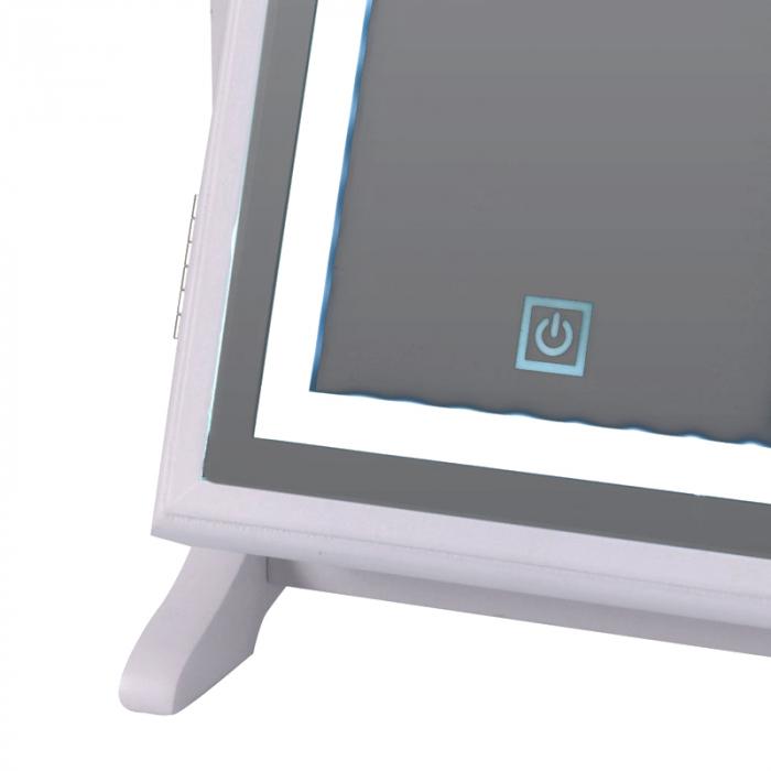 Cutie bijuterii din MDFcu oglinda si 40 LED, culoare alba, dimensiuni 32x23x6.5 cm 6