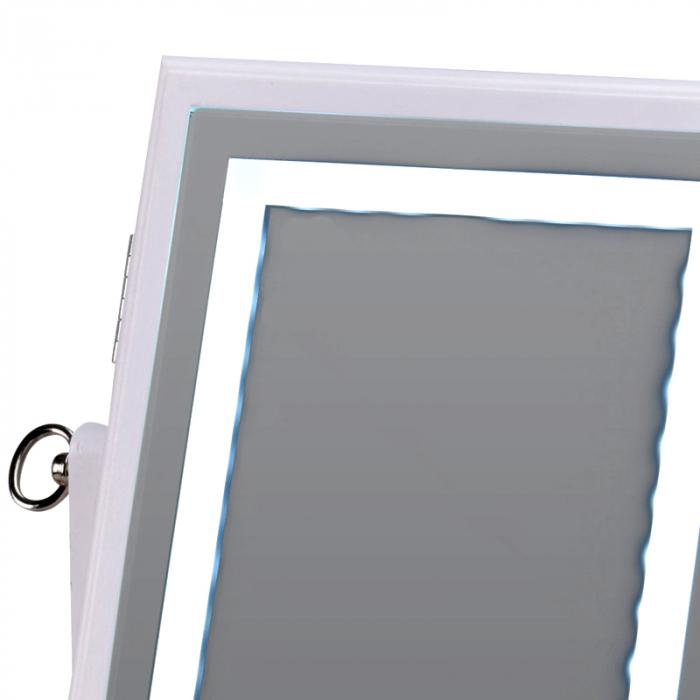 Cutie bijuterii din MDFcu oglinda si 40 LED, culoare alba, dimensiuni 32x23x6.5 cm 3