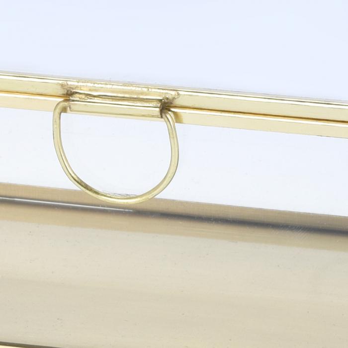 Cutie de Bijuterii clasica, Alama antichizat, sticla transparenta, metal auriu, 30x10x6,5cm 1