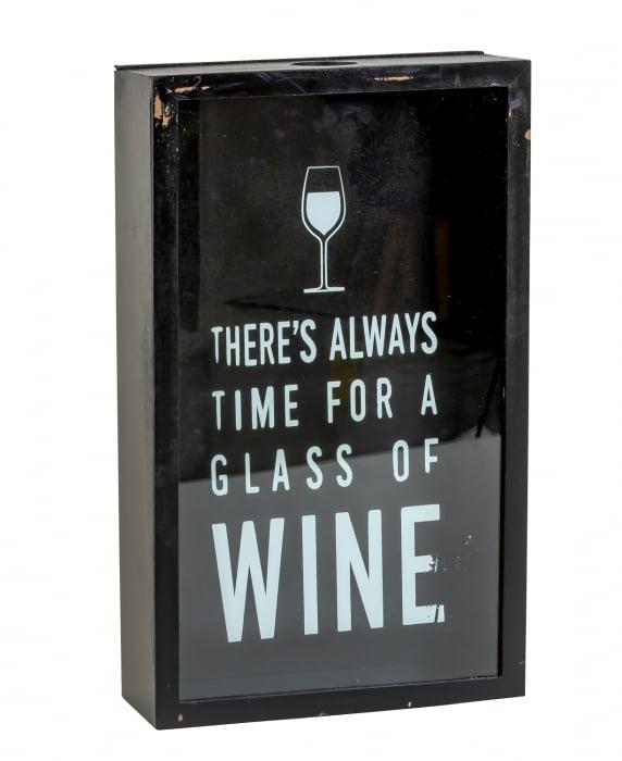 Cutie decor, pentru dopuri de Sticla Vin, 45x21 cm 0