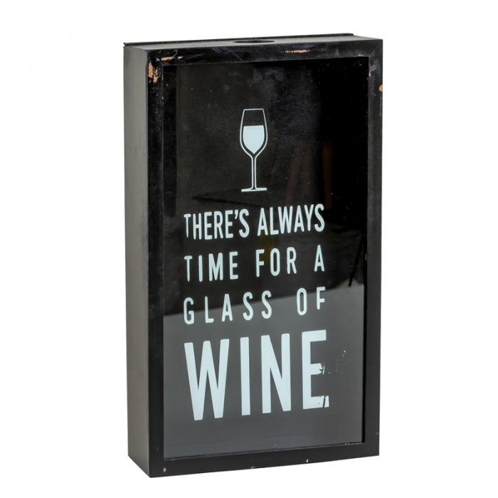 Cutie decor, pentru dopuri de Sticla Vin, 45x21 cm 6