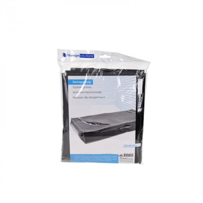Cutie depozitare, gri inchis, cu fermoar, 105x45x16 cm [4]