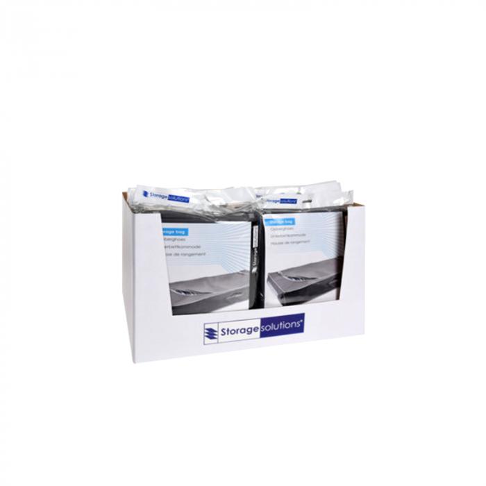 Cutie depozitare, gri inchis, cu fermoar, 105x45x16 cm [5]