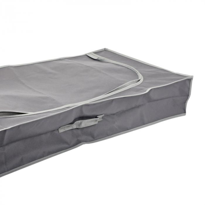 Cutie depozitare, gri inchis, cu fermoar, 105x45x16 cm [2]