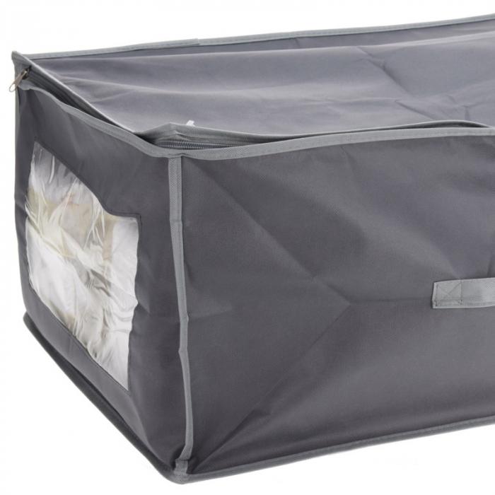 Cutie depozitare paturi  60x45x30 cm culoare gri inchis 1