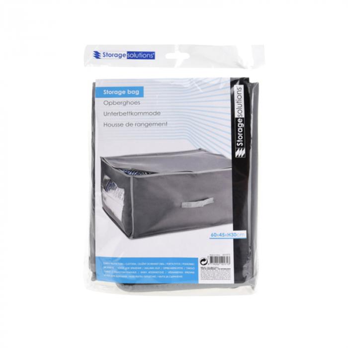 Cutie depozitare paturi  60x45x30 cm culoare gri inchis [6]