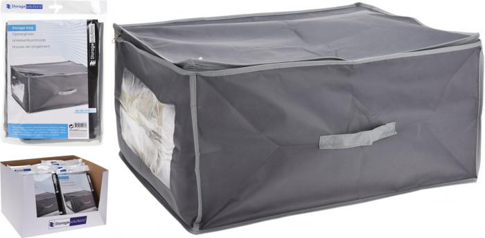 Cutie depozitare paturi  60x45x30 cm culoare gri inchis 4