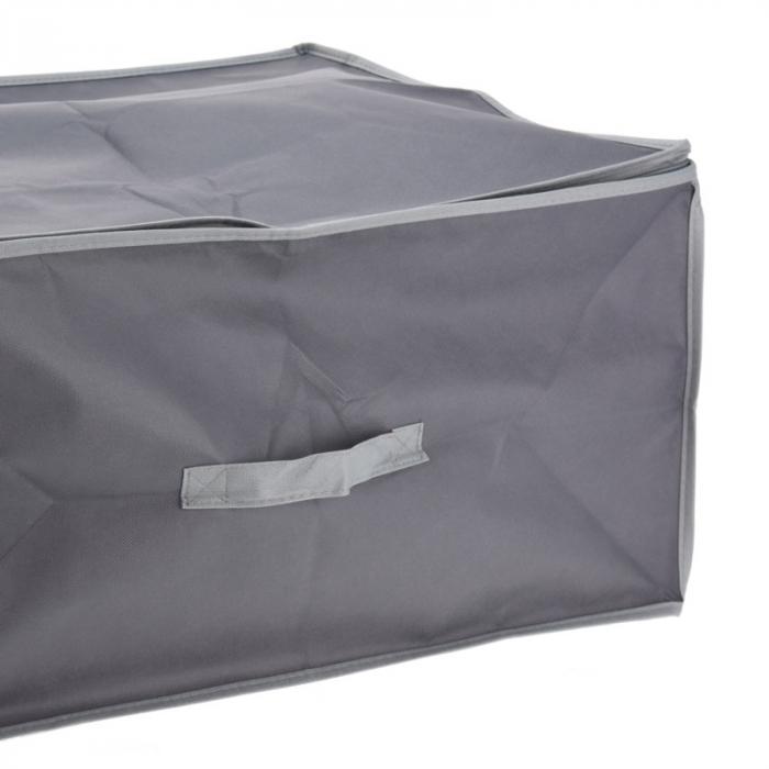 Cutie depozitare paturi  60x45x30 cm culoare gri inchis 2