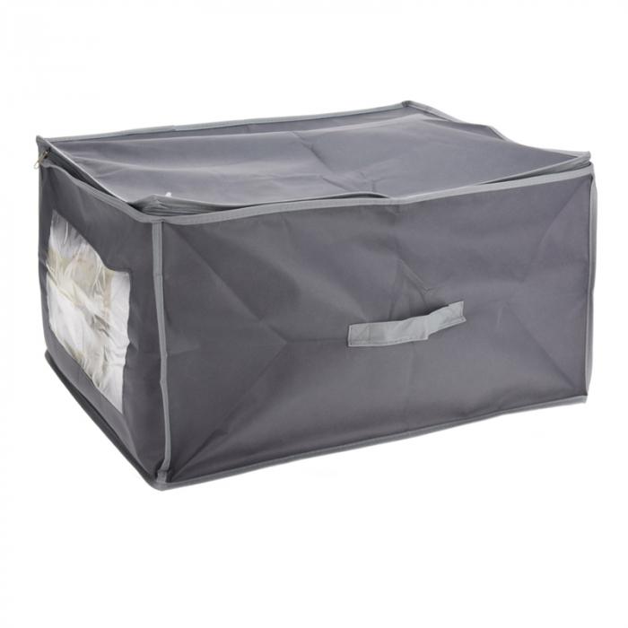 Cutie depozitare paturi  60x45x30 cm culoare gri inchis [0]