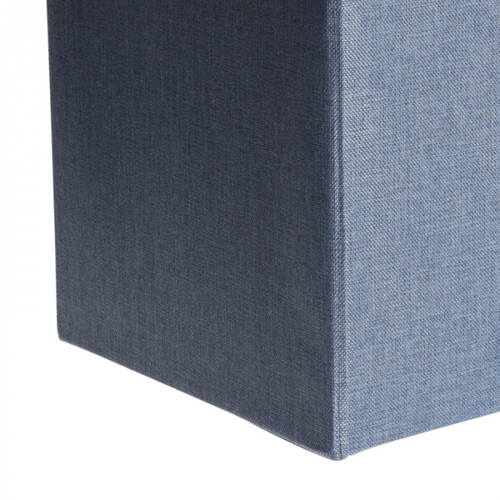 Cutie depozitare poliester tip taburet, 38x38x38 cm, Greutate 2 kg, culoare albastu [5]