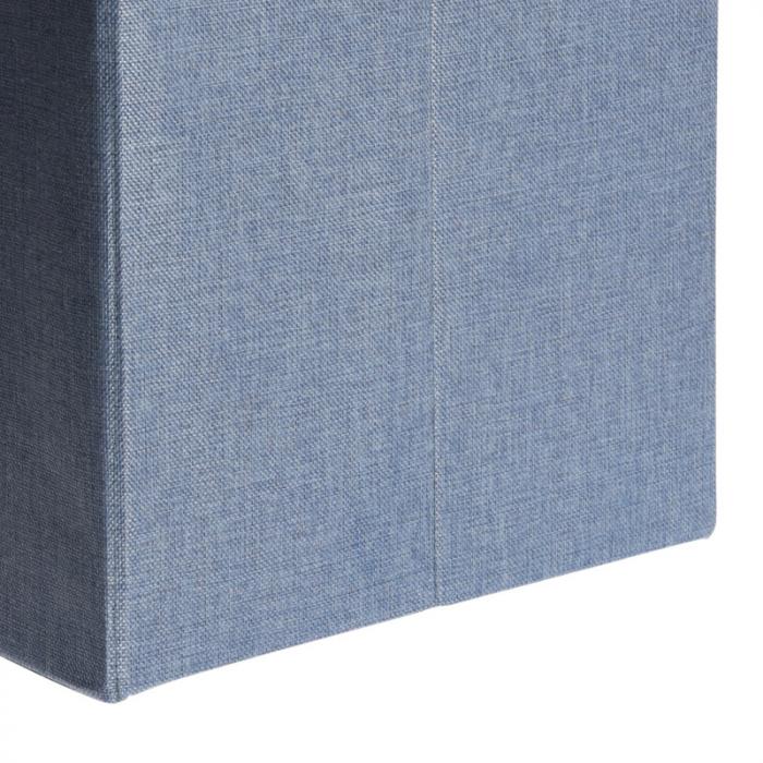 Cutie depozitare poliester tip taburet, 38x38x38 cm, Greutate 2 kg, culoare albastu [4]