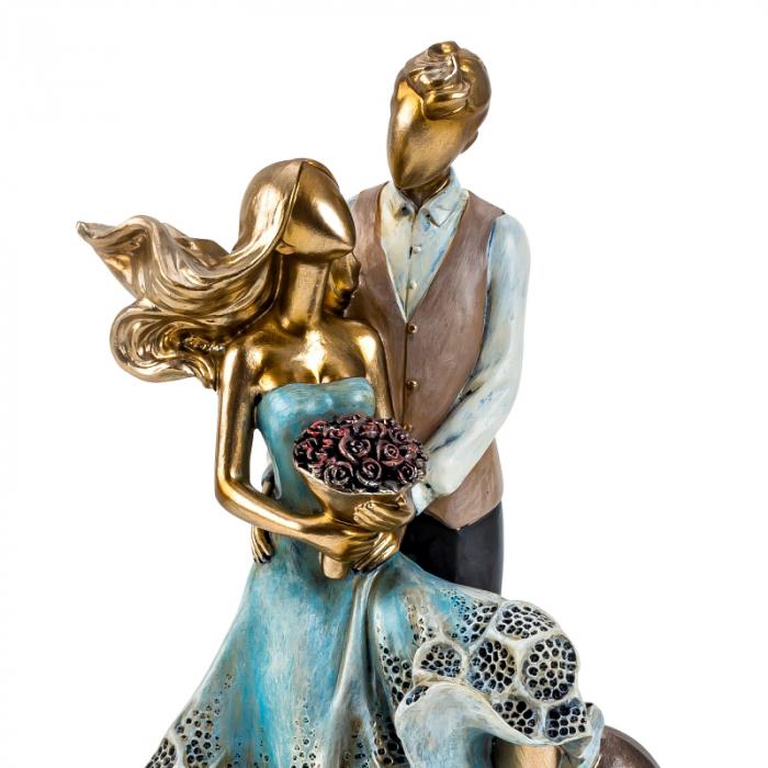 Decoratiune ceramica, model cuplu cu inima  27x12,5 cm [2]