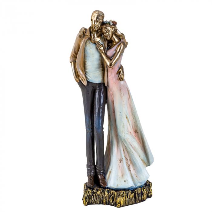 Decoratiune ceramica, model cuplu indragostit, 27x12 cm 1