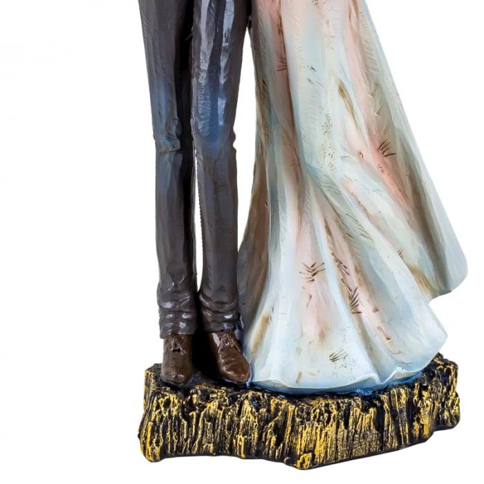 Decoratiune ceramica, model cuplu indragostit, 27x12 cm 3
