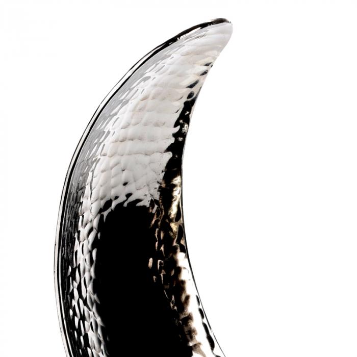 Decoratiune din aluminiu pe baza de lemn, dimensiune  25.5X27X10.5 cm 4