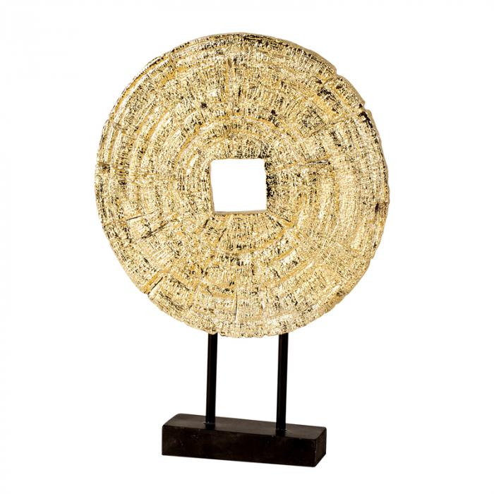 Decoratiune disc auriu pe suport, diametru 33 cm [1]