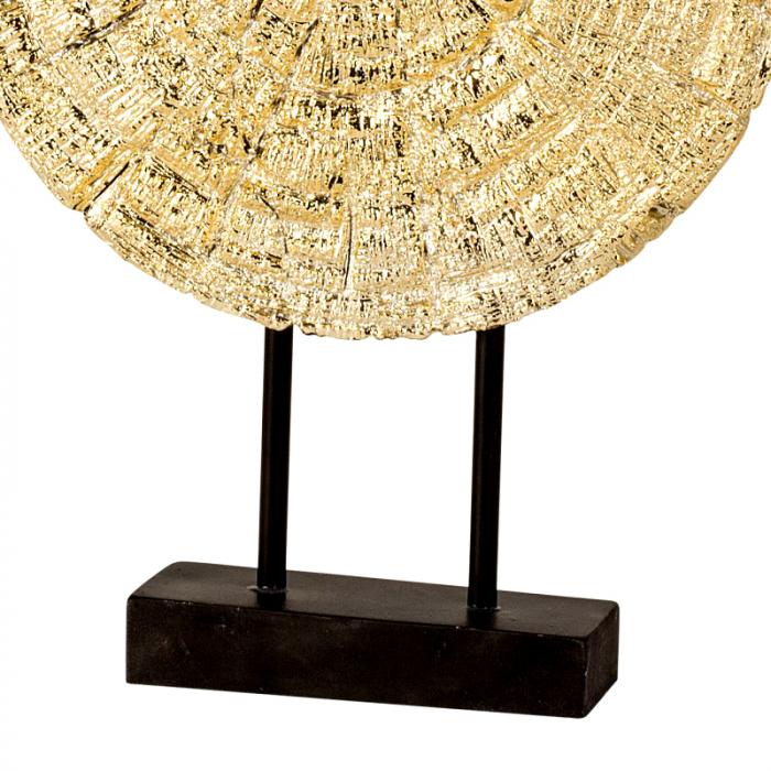 Decoratiune disc auriu pe suport, diametru 33 cm [4]