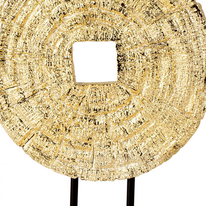 Decoratiune disc auriu pe suport, diametru 33 cm [3]
