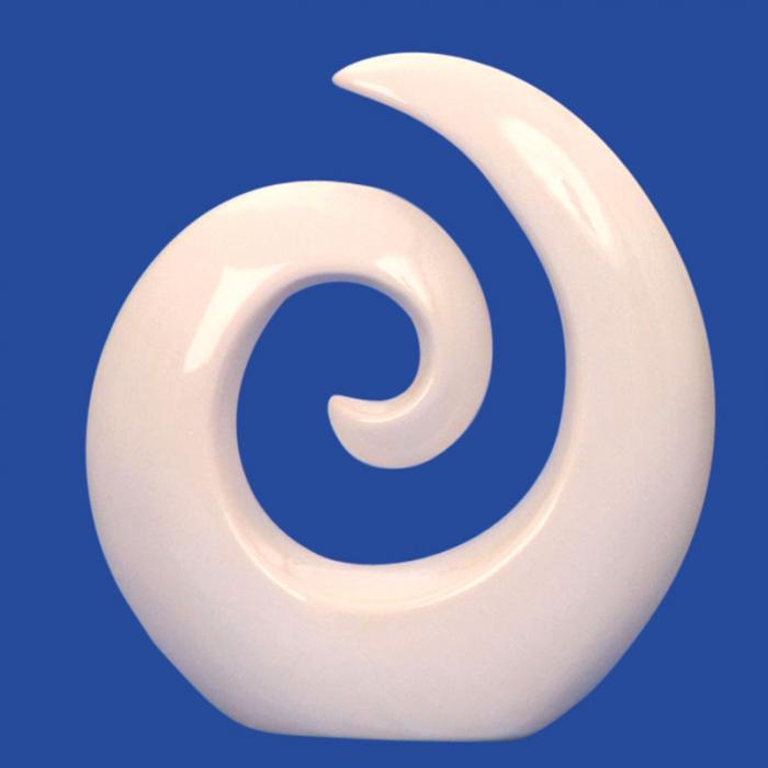 Decoratiune spirala 16 cm culoare alba 1
