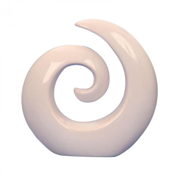 Decoratiune spirala 16 cm culoare alba 0