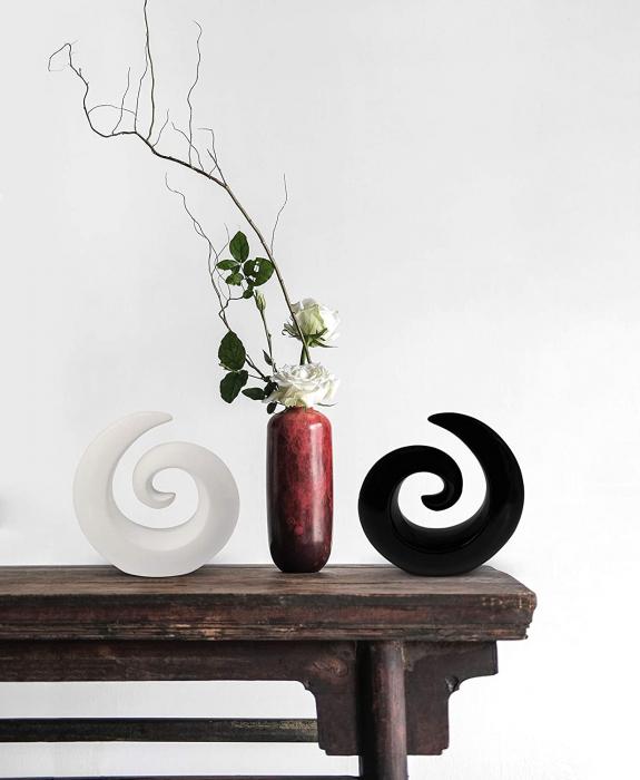 Decoratiune spirala 16 cm culoare alba 3