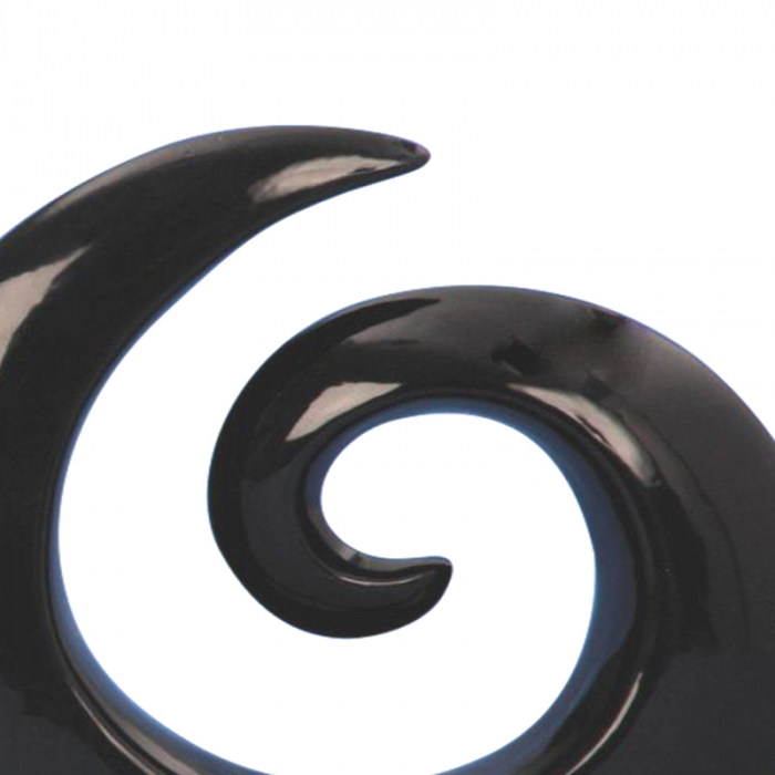 Decoratiune spirala 16 cm culoare neagra 4