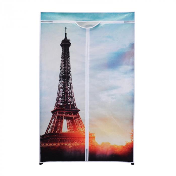 Dulap textil model Turnul Eiffel  cu structura metalica H 160cmx75x45 cm 0