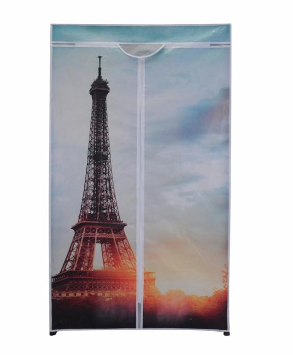 Dulap textil cu structura metalica H 160cmx75x45 cm Turnul Eiffel 0
