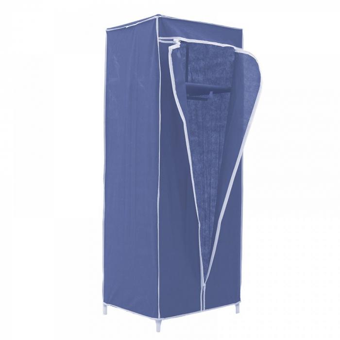 Dulap textil pentru organizare haine culoare albastru 150x60X45 cm 1
