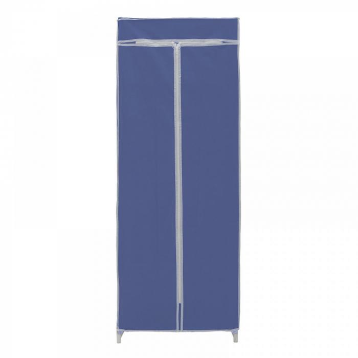 Dulap textil pentru organizare haine culoare albastru 150x60X45 cm 2
