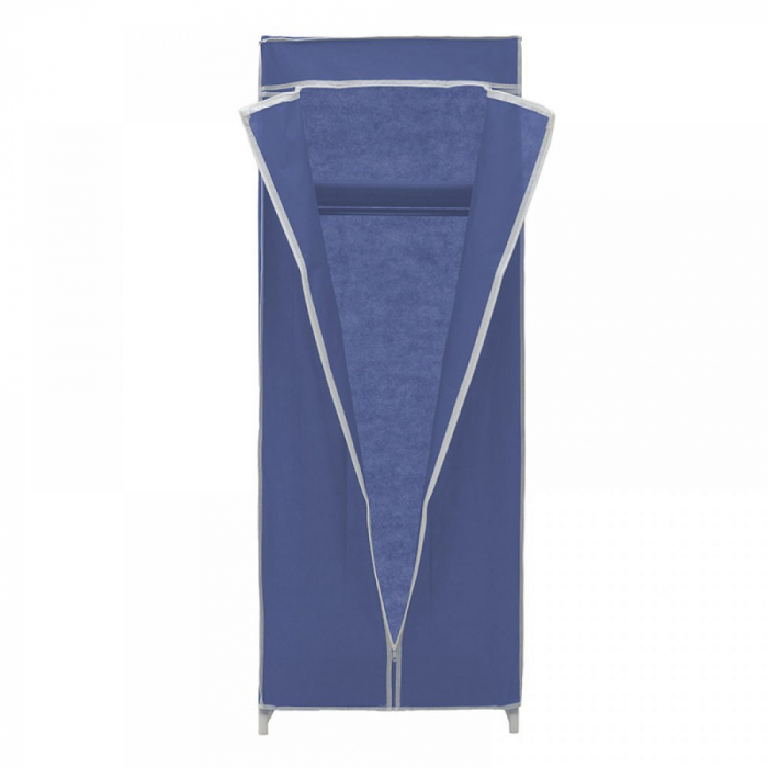 Dulap textil pentru organizare haine culoare albastru 150x60X45 cm 3