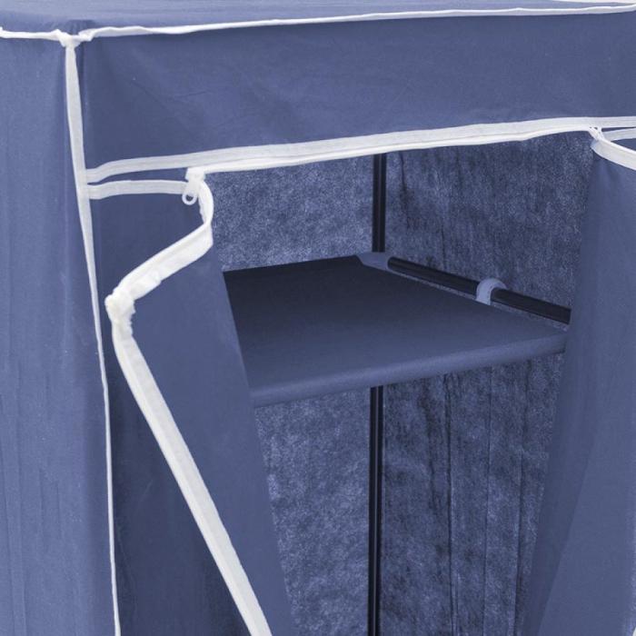 Dulap textil pentru organizare haine culoare albastru 150x60X45 cm 4