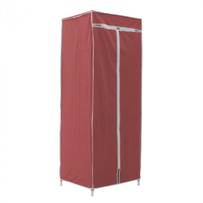 Dulap textil pentru organizare haine culoare visinie 150x60X45 cm 0