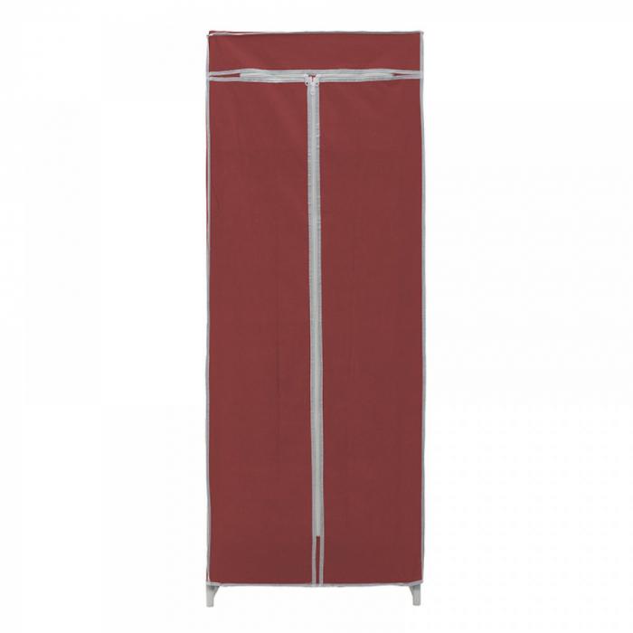 Dulap textil pentru organizare haine culoare visinie 150x60X45 cm 2