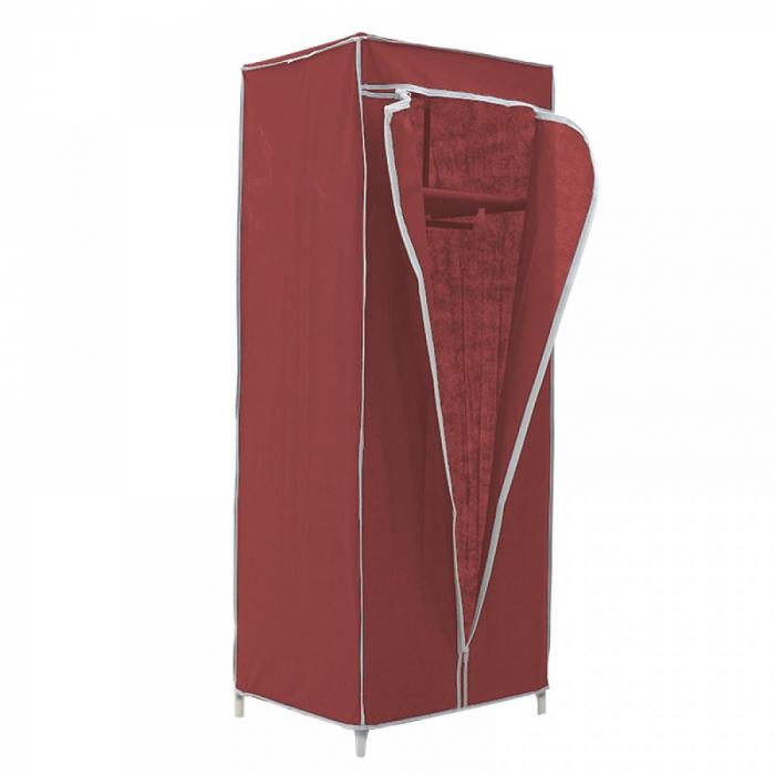 Dulap textil pentru organizare haine culoare visinie 150x60X45 cm 1