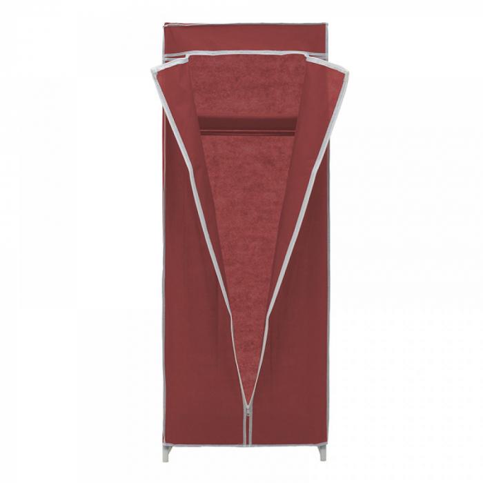 Dulap textil pentru organizare haine culoare visinie 150x60X45 cm 3