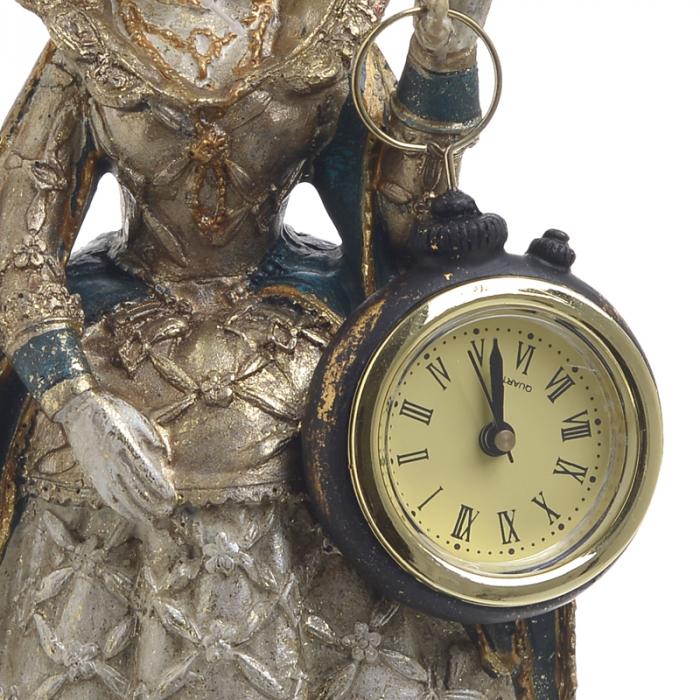 Figurina iepure, din polirezina cu ceas, 11x10x24 cm 3