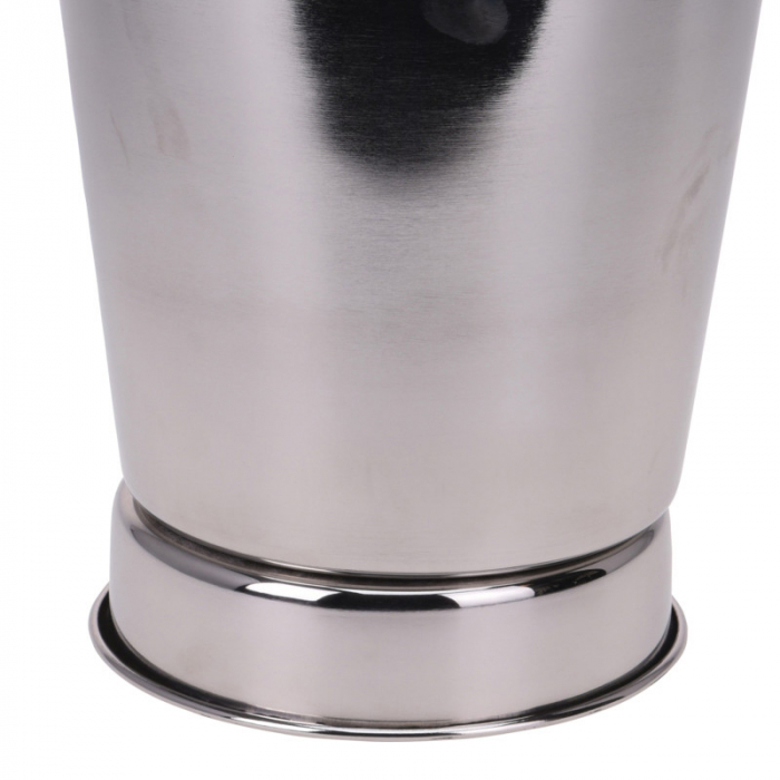 Frapiera pentru Sampanie cu maner din Piele Maro, 24x27 cm, Inox, 1,11 Kg 7