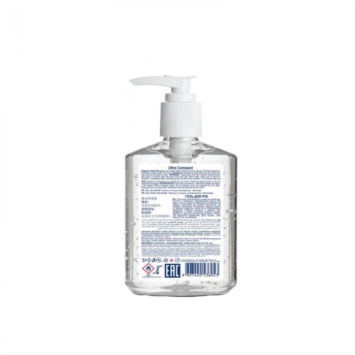 Gel Antibacterian, 250 ml, dezinfectant, igienizant pentru maini, Ultra Compact Hygienic 2