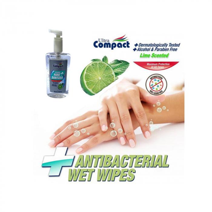 Gel Antibacterian, 250 ml, dezinfectant, igienizant pentru maini, Ultra Compact Hygienic 3