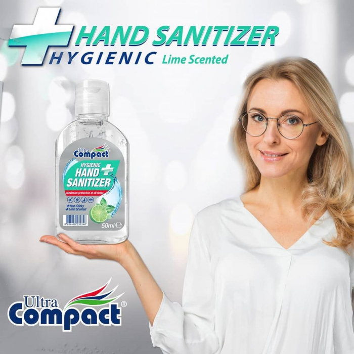 Gel Antibacterian, 50 ml, dezinfectant, igienizant pentru maini, Ultra Compact Hygienic 3