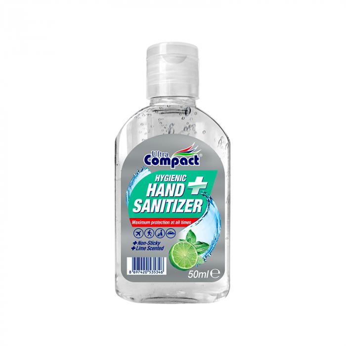 Gel Antibacterian, 50 ml, dezinfectant, igienizant pentru maini, Ultra Compact Hygienic 0
