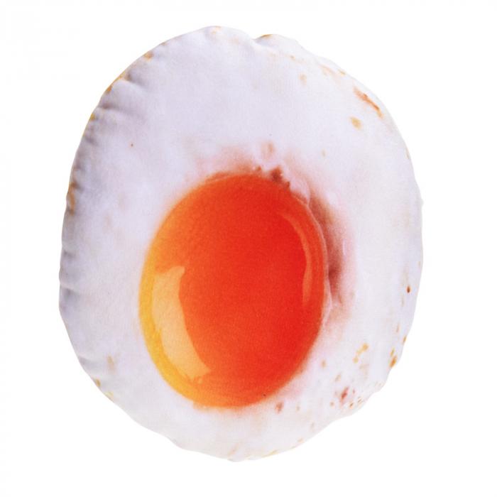 Jucarie textil pentru catei cu sunet model ou ochi 0