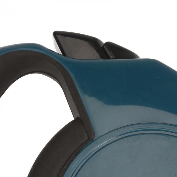 Lesa Caini Retractabila, NAGO, pentru Catei, Snur 8 m, rezista pana la 35 kg, Albastru petrol 3