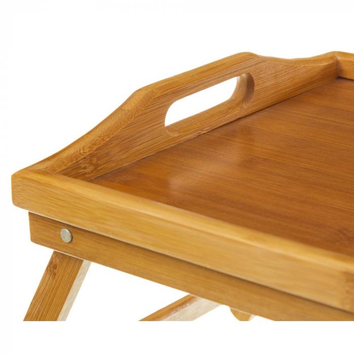 Masa servire in pat, din Banbus, cu picioare pliabile, Nago, 50 x 30 x 21 cm [5]