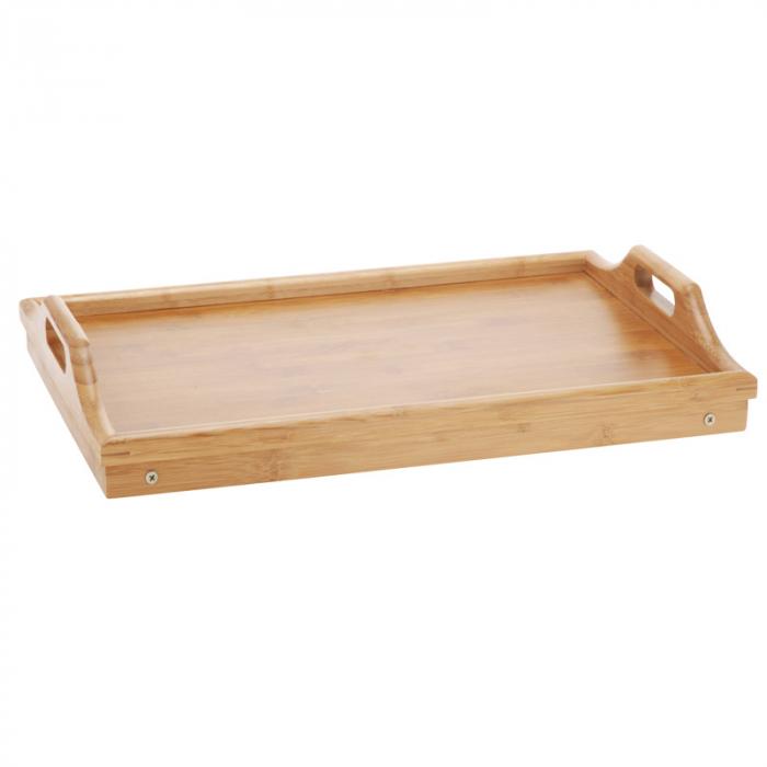 Masa servire in pat, din Banbus, cu picioare pliabile, Nago, 50 x 30 x 21 cm [3]