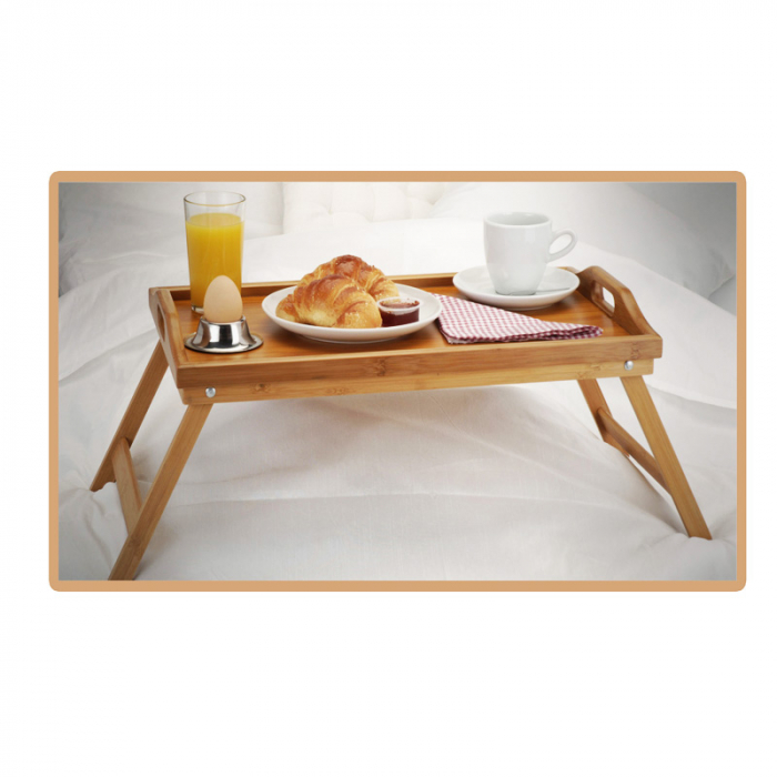 Masa servire in pat, din Banbus, cu picioare pliabile, Nago, 50 x 30 x 21 cm [10]