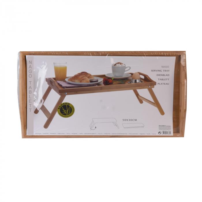 Masa servire in pat, din Banbus, cu picioare pliabile, Nago, 50 x 30 x 21 cm [11]