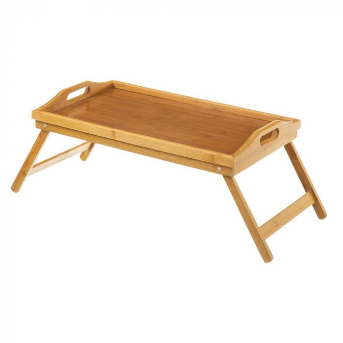 Masa servire in pat, din Banbus, cu picioare pliabile, Nago, 50 x 30 x 21 cm [0]